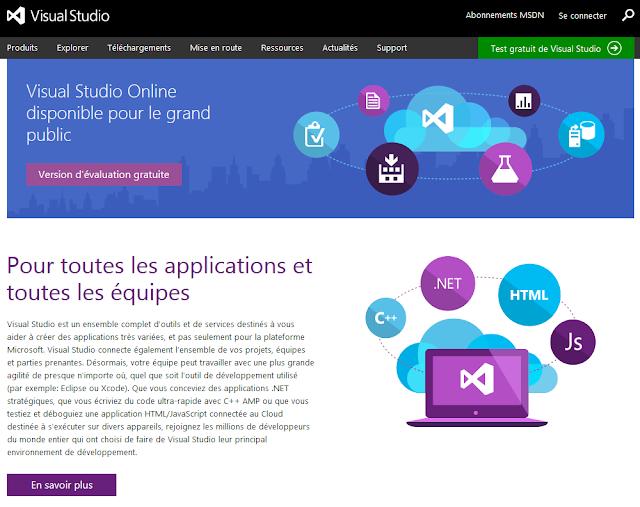 Visual Studio Online pour le grand public