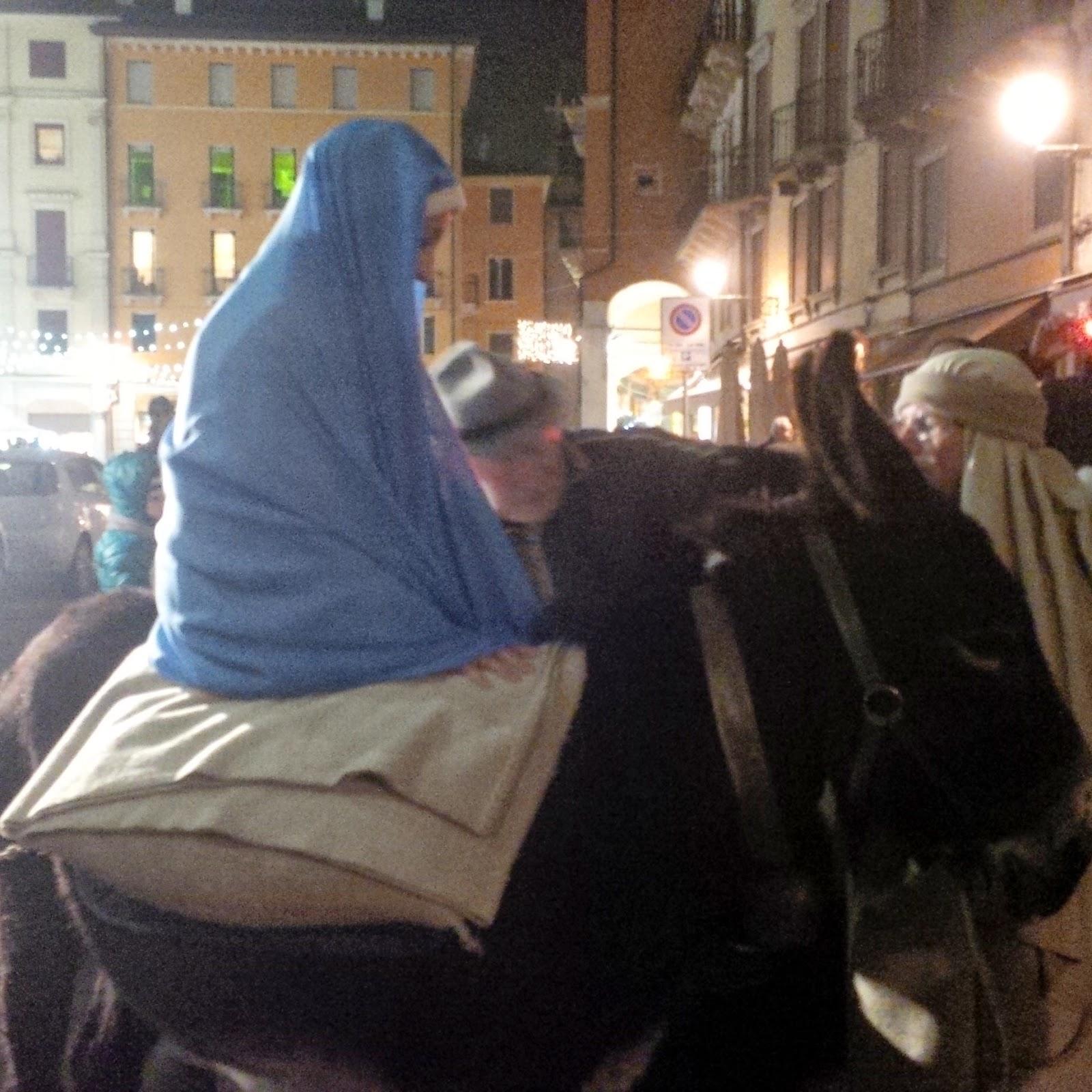 Mary - Living Nativity Scene in Vicenza