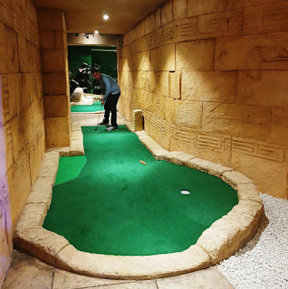 The Treetop Adventure Golf course have well designed and tricky holes