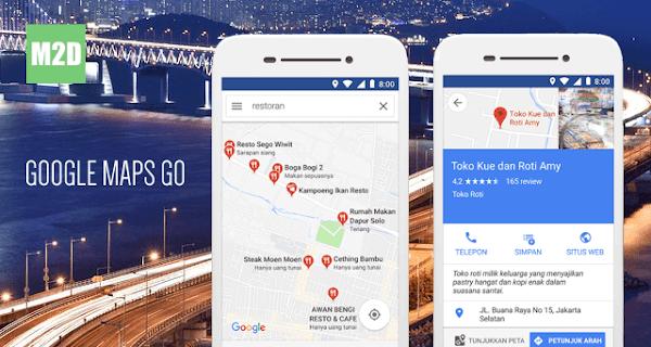 Aplikasi peta untuk Android ya Google Maps Google Maps Go: Aplikasi Peta Android Ringan Irit RAM
