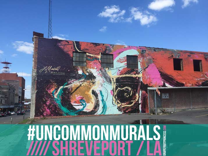 UNCOMMON MURALS designed by area Artists and installed on buildings throughout the 9-blocks of Shreveport Common.
