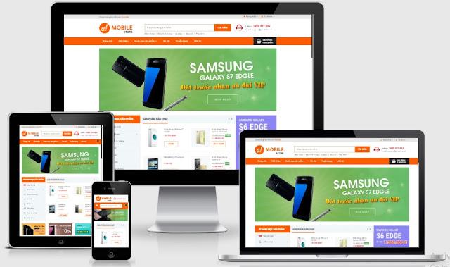 Templates blogspot bán hàng điện thoại máy tính bản