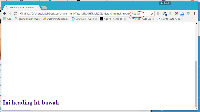 membuat internal link di html