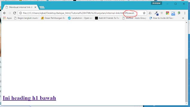 membuat internal link di html