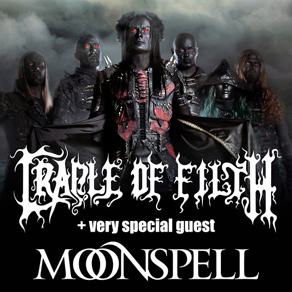 18. 1. 2018 - CRADLE OF FILTH (UK) + MOONSPELL (ES) - Prague, Roxy