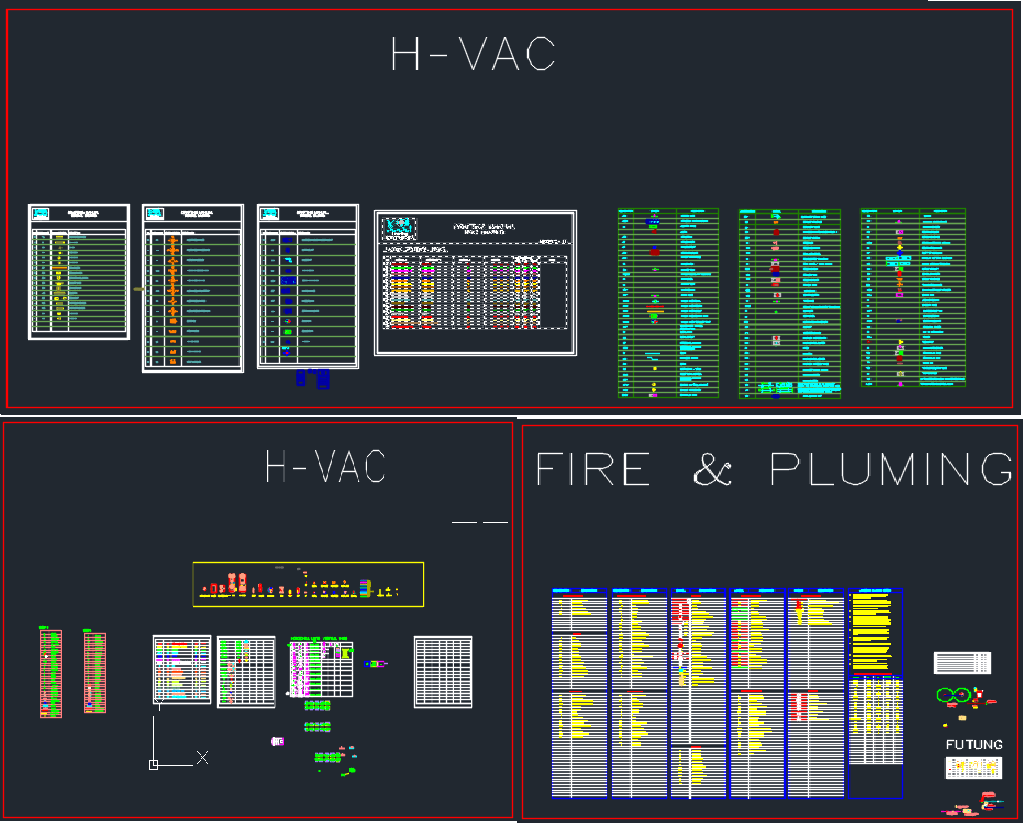 drawing hvac system autocad [ 1024 x 824 Pixel ]