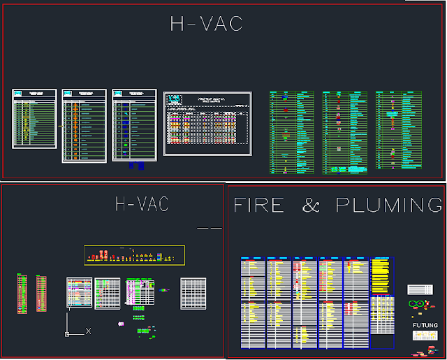 All AutoCAD Fittings Blocks for HVAC, Firefighting and Plumbing
