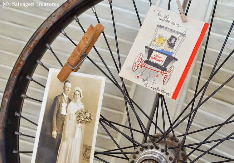 repurposed bicycle wheel DIY