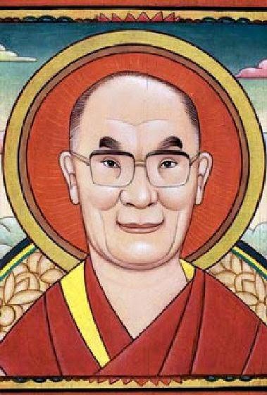 Dalai Lama - Grandes personalidades pintada por Marc Burckhardt