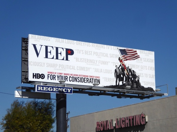 Veep season 6 Golden Globes FYC billboard