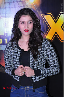 Actress Mannara Chopra Stills in Jeans at Sparx 2017 Curtain Raiser Event  0050.JPG