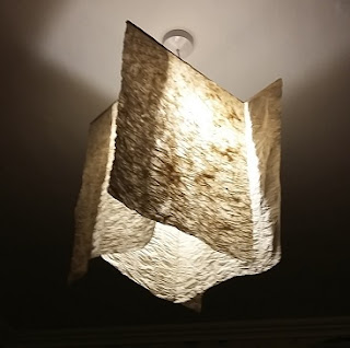 Picture of a lampshade using electricity