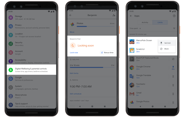 جوجل تعزز الرفاهية الرقمية مع ميزات جديدة