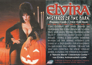 Elvira Trading Cards promo card