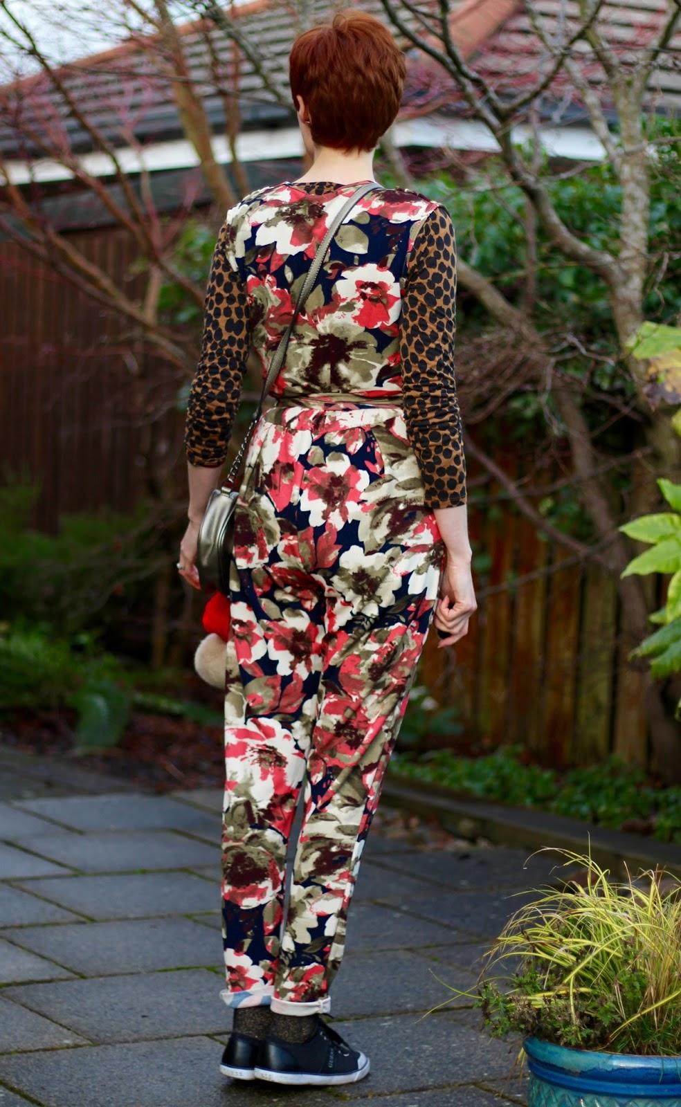 Fake Fabulous |Floral Jumpsuit, rear view