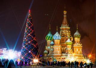 Pohon Natal Di Moskow, Rusia