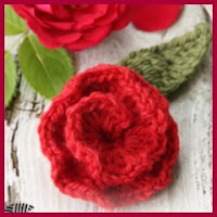 Rosa roja a crochet