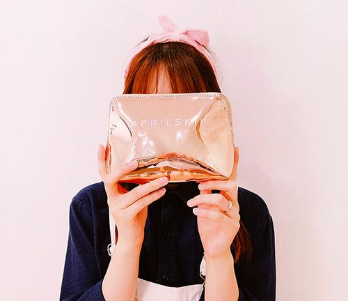 Pink Mirror Pouch