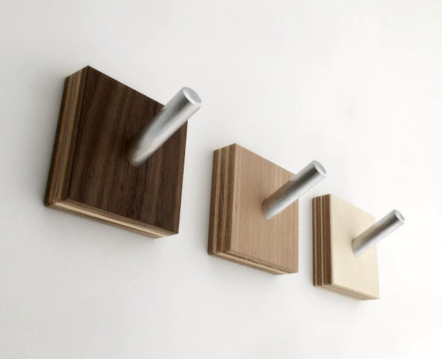 Minimalist Modern Wood Coat Hooks