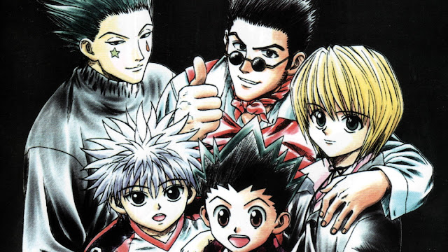 wallpaper hunter x hunter gon, killua, kurapika, leorio, hisoka (1999)