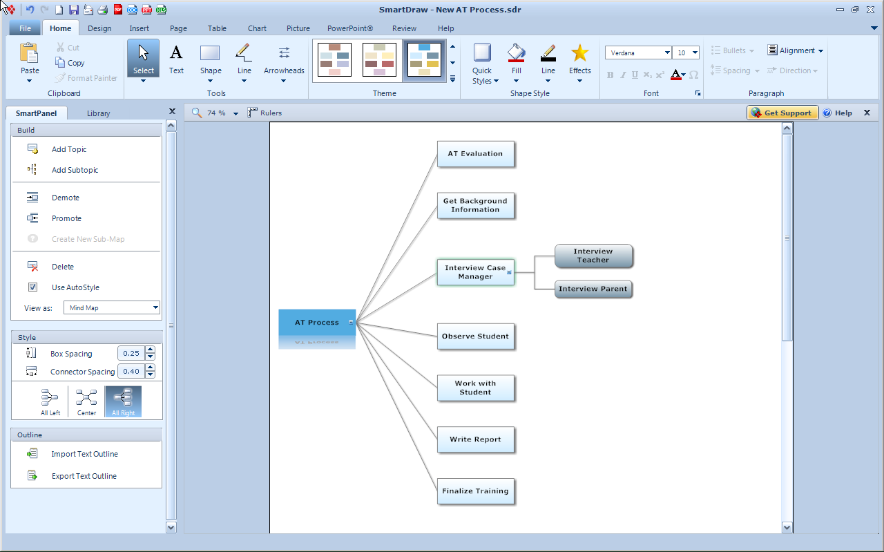 SmartDraw VP Upgrade -Adds New Mind Mapping Features