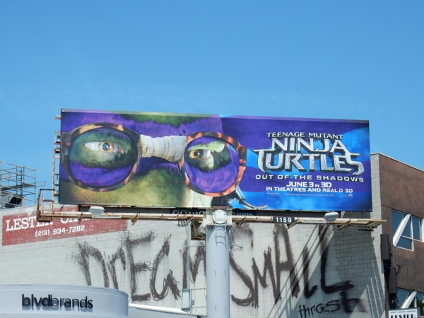 Ninja Turtles Out of Shadows Donatello mask billboard