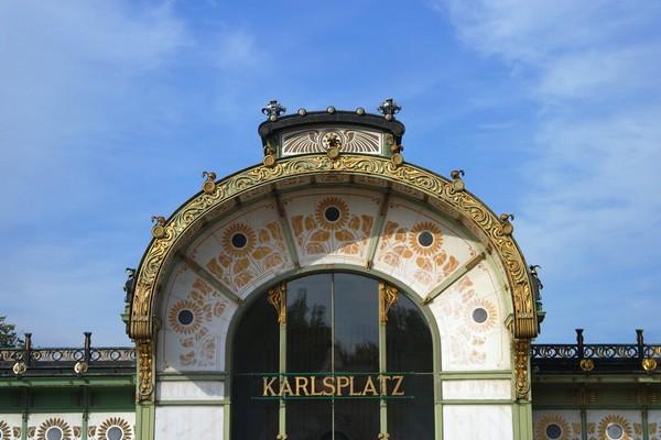 vienne art nouveau jugendstil sécession otto wagner pavillon karlsplatz