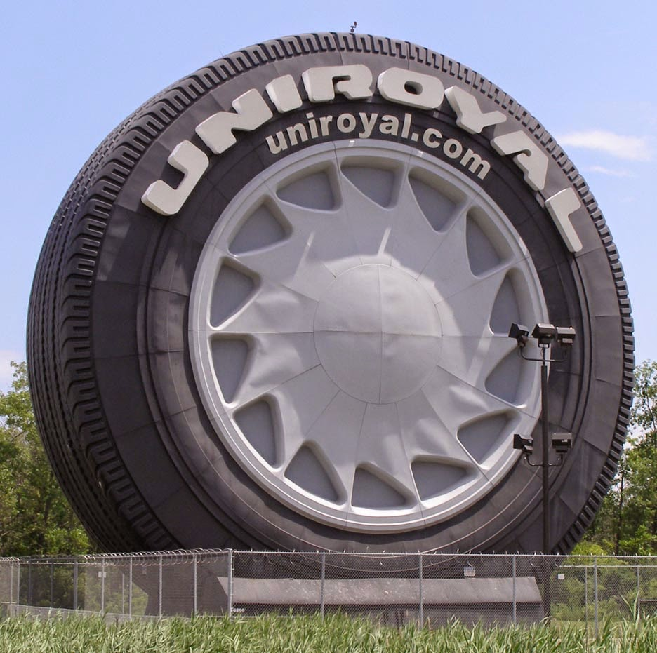 fornologycom allen parks uniroyal giant tire fifty  years  heralds entrance