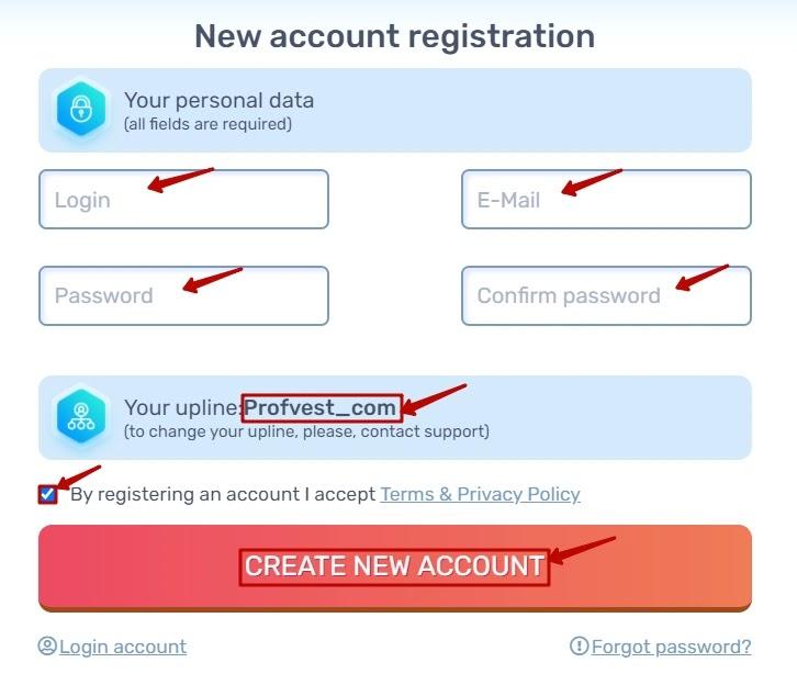 Регистрация в Chance-Х 2