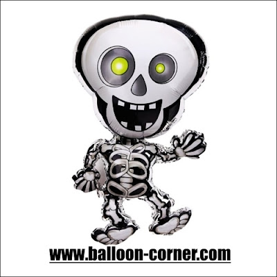 Balon Foil Tengkorak Halloween / Dancing Skeleton