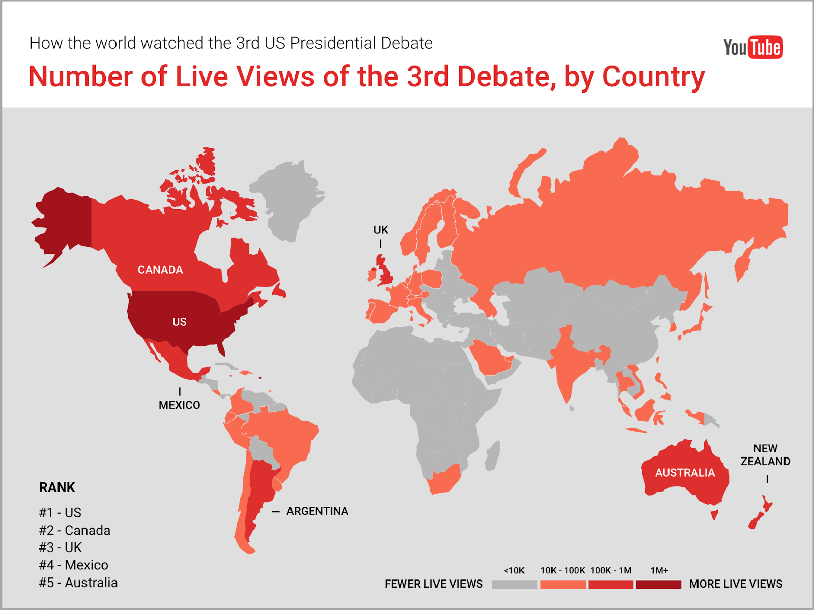 Official Youtube Blog The Three 2016 Us Presidential Debates Rank - Us-elections-2016-live-map