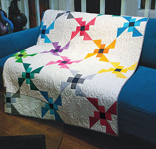 Flying Colors Large Lap Quilt Free Pattern