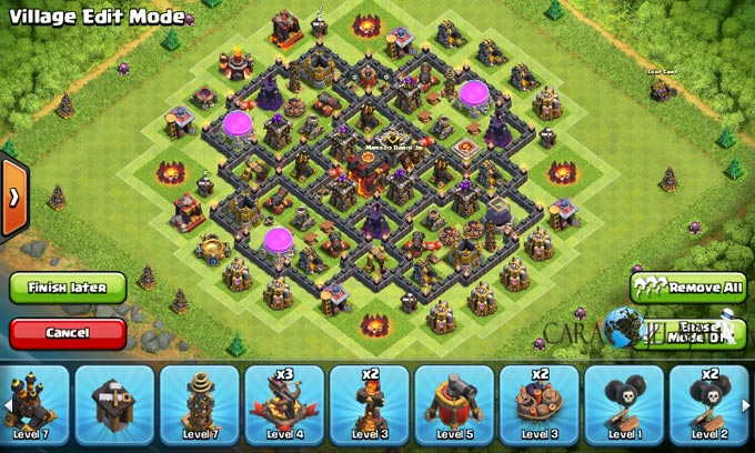 Susunan Formasi Base War TH 8 Update Terbaru 3