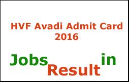HVF Avadi Admit Card 2016