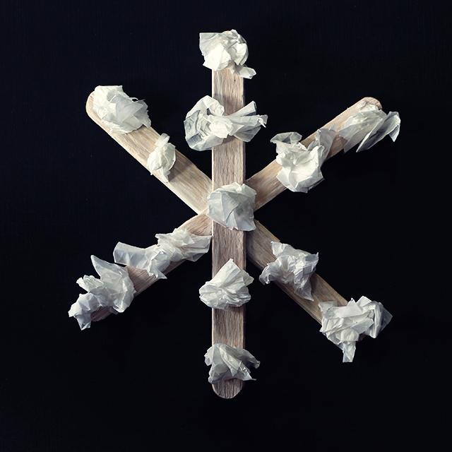 sneeuwvlok knutselen ijstokjes