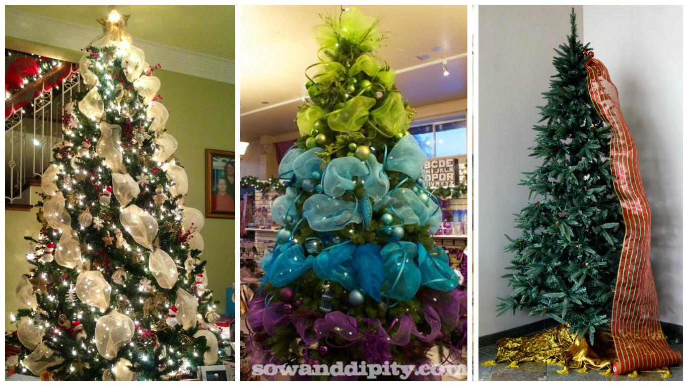 Como decorar un arbol de navidad con malla dorada