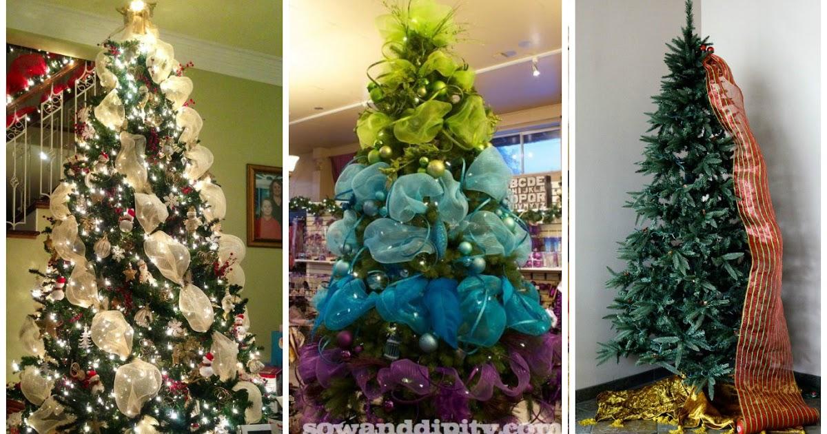 C mo decorar un hermoso rbol de navidad con mallas - Como adornar un arbol de navidad blanco ...