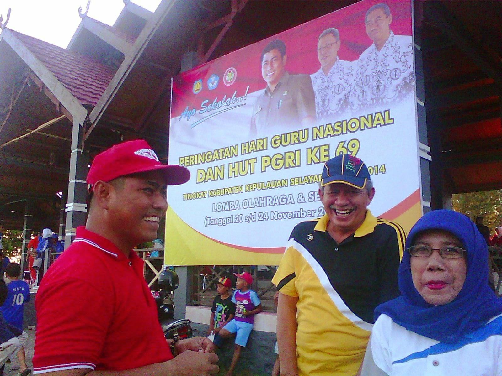 Pertandingan Olah Raga Dan Seni Semarakkan Hari Guru 2014 Dan HUT PGRI 69 Di Kab. Kep.Selayar,