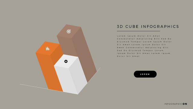 3D CUBE Infographic Elements for PowerPoint Slide 7