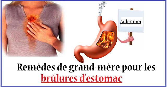 Remèdes de grand-mère pour les brûlures d'estomac