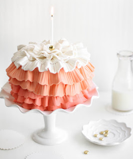 Strawberry Shindig Ruffle Cake