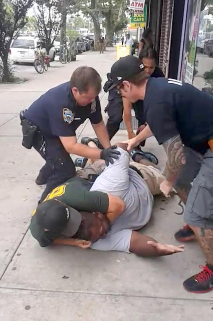 The death of Eric Garner, at the hands of NYPD officers, as recorded by his friend, Ramsey Orta (July 17, 2014)