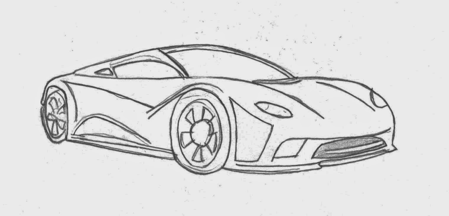 easy pencil drawings of cars - photo #29