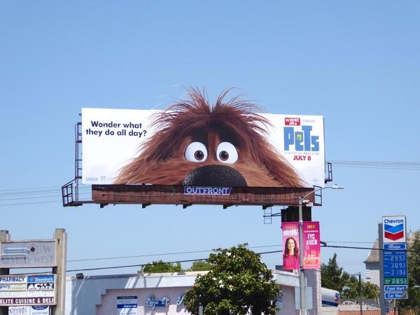 Secret Life of Pets Duke billboard