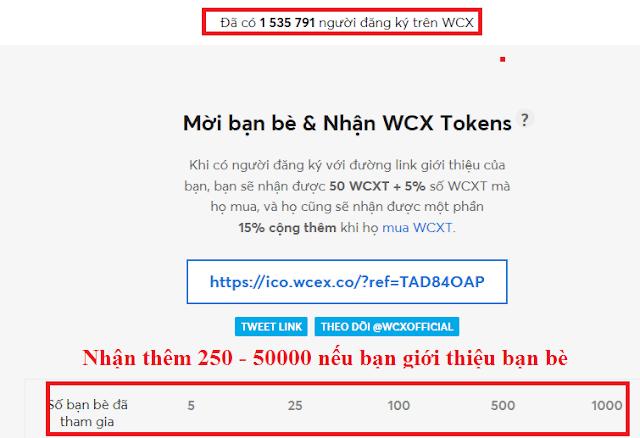 Dự án WCX và phát WCX Coin miễn phí