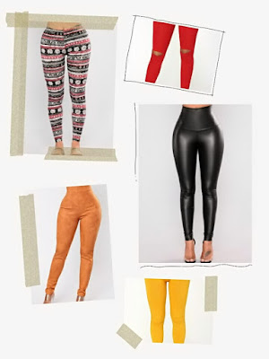 different stylish leggings