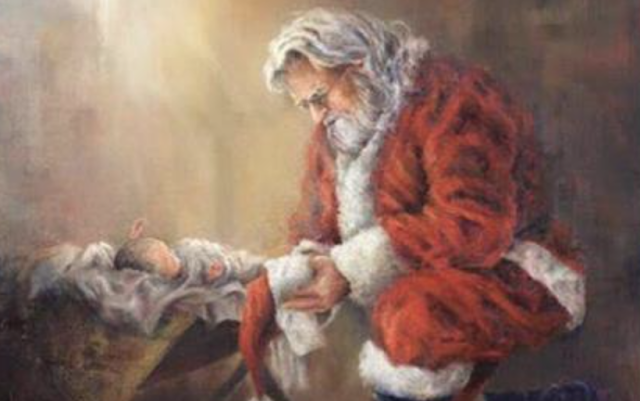 Facebook censors image of Santa kneeling before baby Jesus, calls it 'violent content'