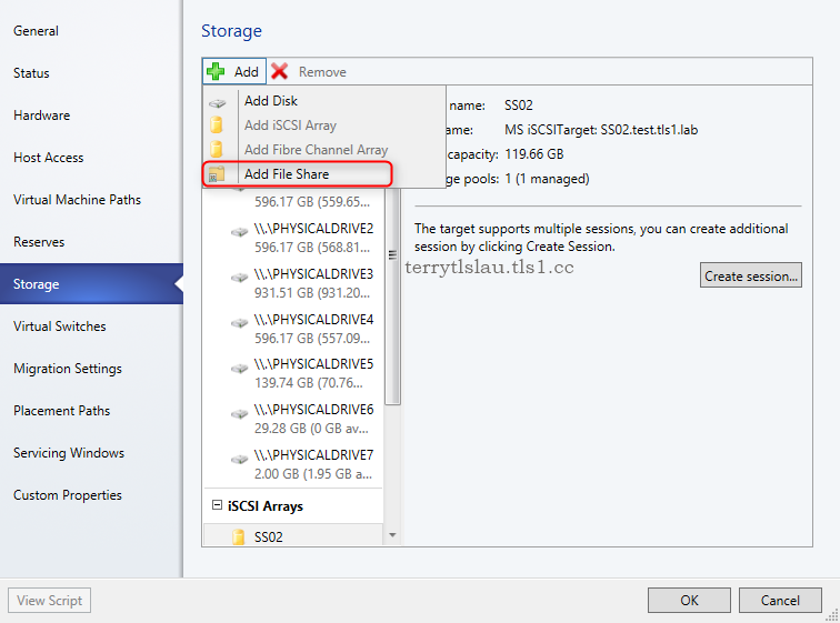 Terry L@u's blog: Adding and assigning a Windows file share to a