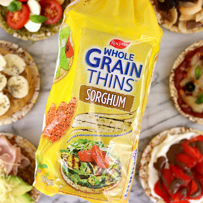 6 Ways to Eat Real Foods Whole Grain Thins™ Sorghum - Healthy, gluten free, lunchbox ideas, healthy rice cake topping ideas.jpg
