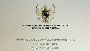 Download Perbawaslu No 10 Tahun 2018